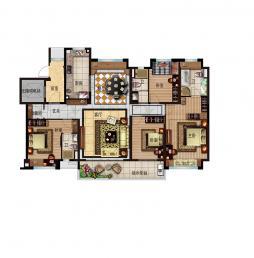 180-4室2厅3卫