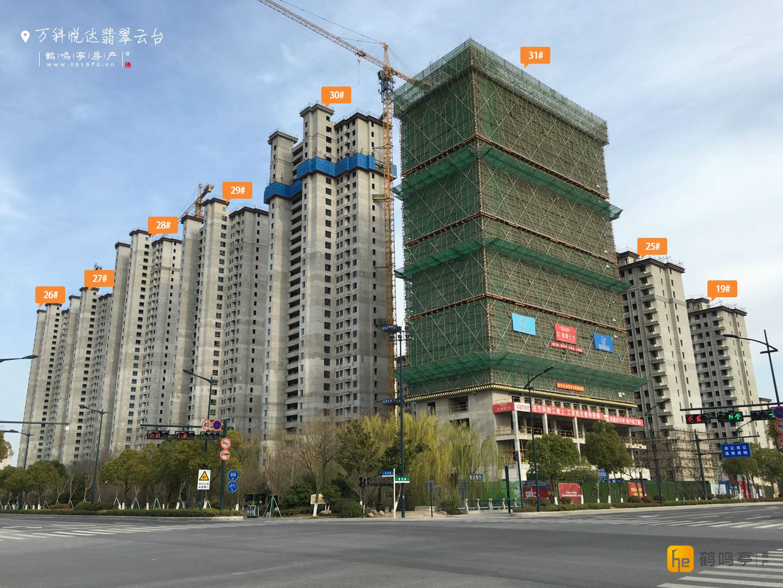 3月万科悦达翡翠云台工程建设进度图