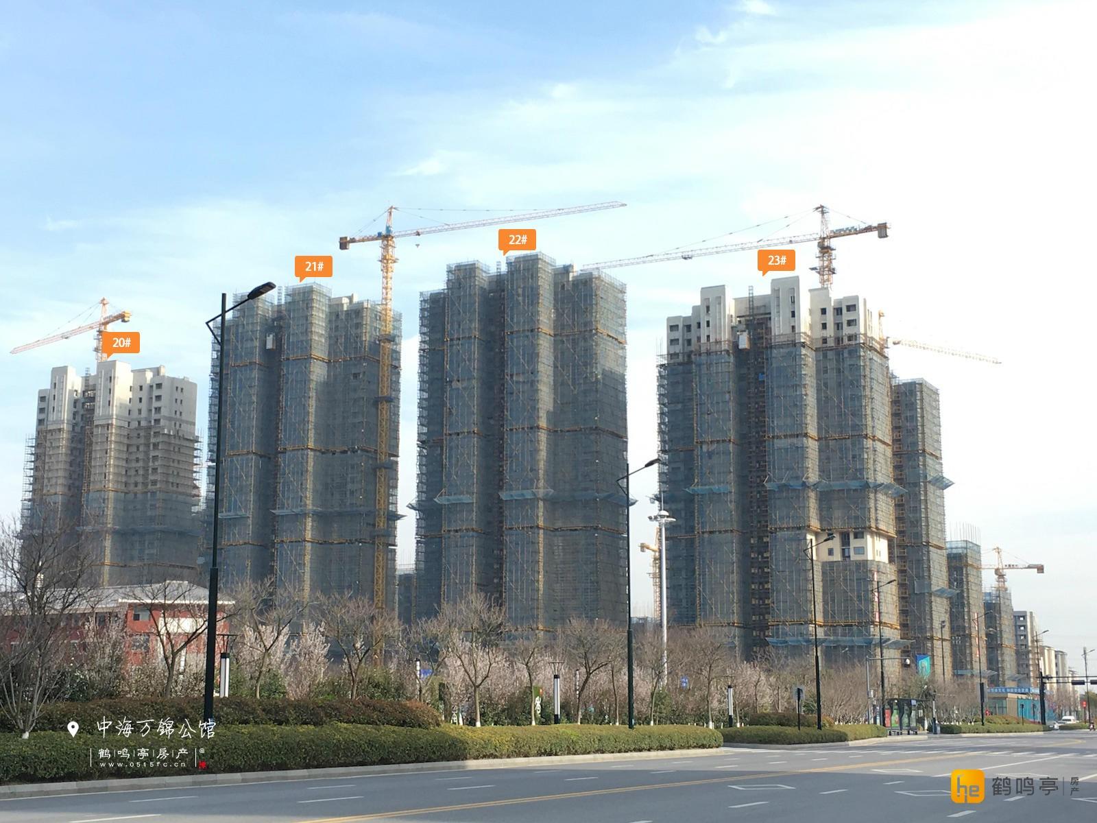 3月中海万锦公馆工程建设进度图
