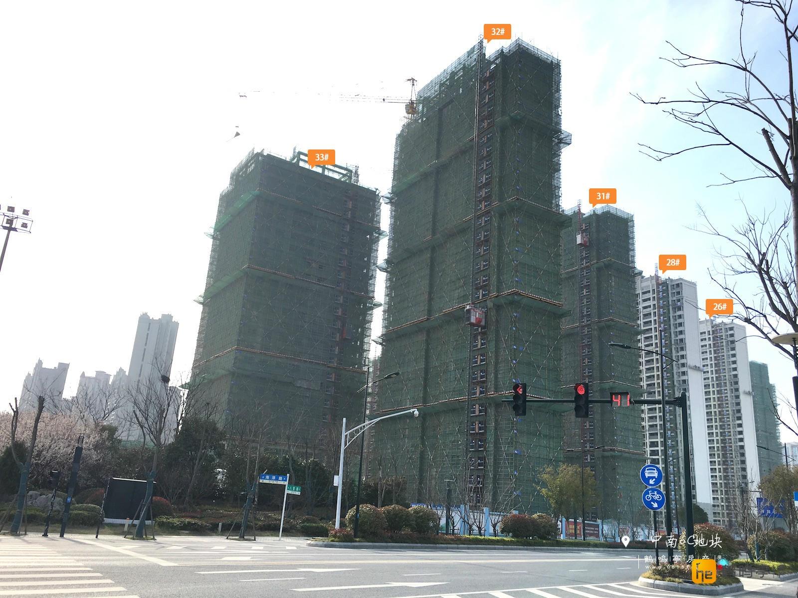 3月中南世纪城6C地块工程建设进度图